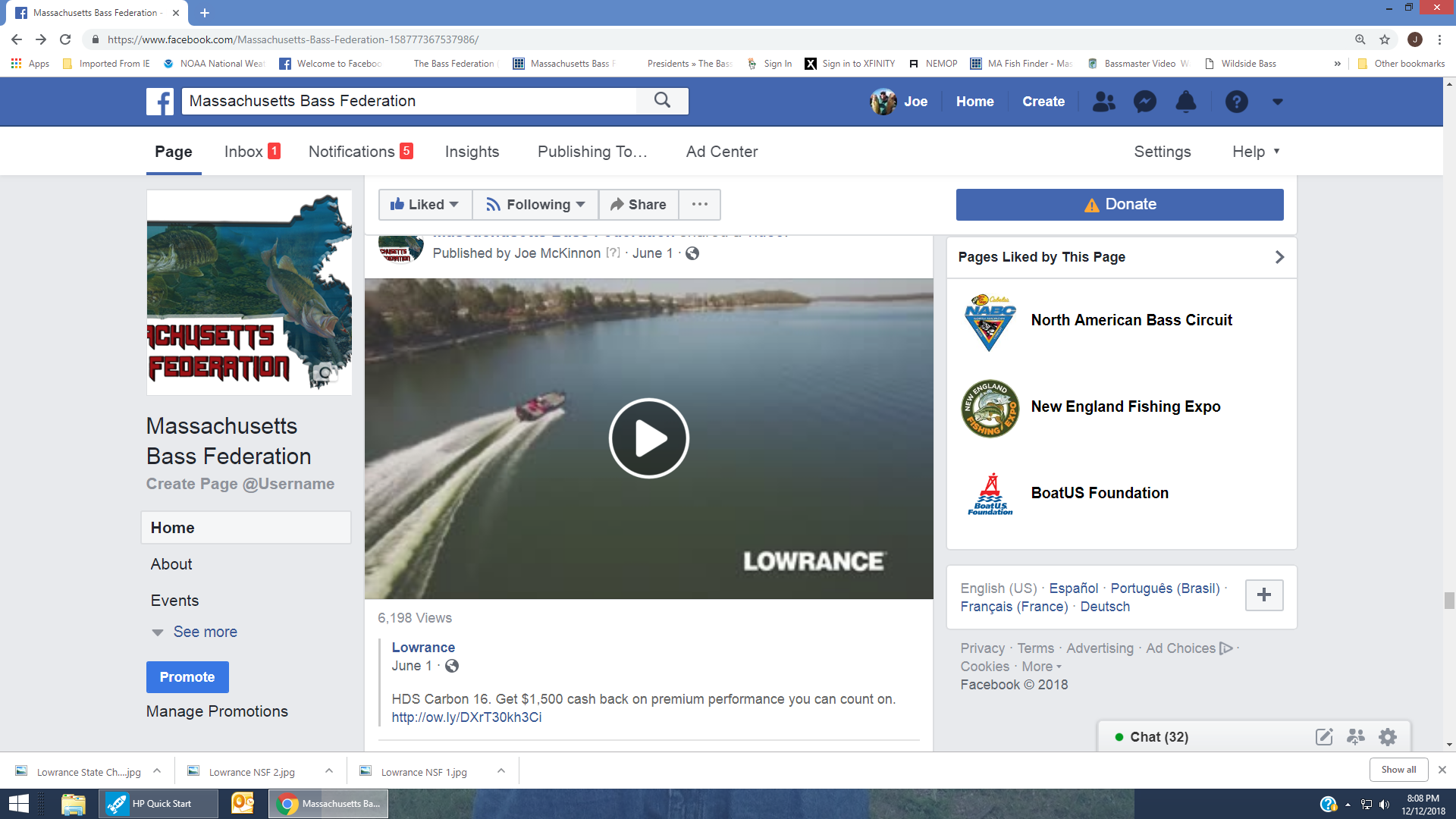 Lowrance Marketing – Massachusetts Bass Federation